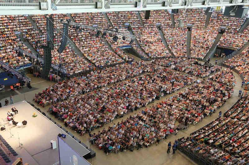 PCS mit Simultantechnik im Olympiastadion Muenchen